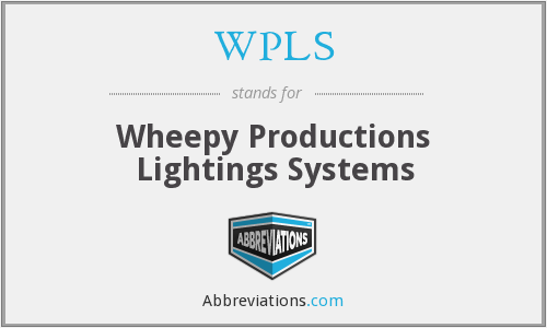 WPLS - Wheepy Productions Lightings Systems