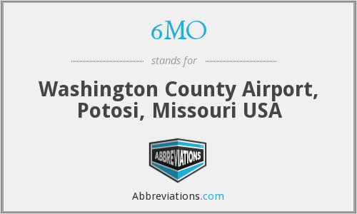 6MO - Washington County Airport, Potosi, Missouri USA