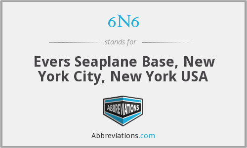 6N6 - Evers Seaplane Base, New York City, New York USA