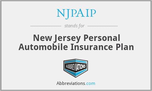 NJPAIP - New Jersey Personal Automobile Insurance Plan