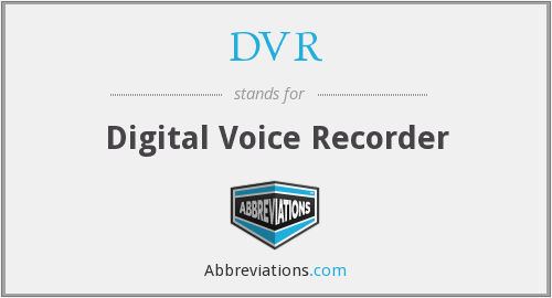 DVR - Digital Voice Recorder