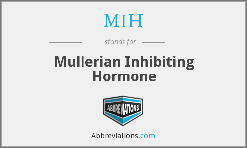 MIH - Mullerian Inhibiting Hormone