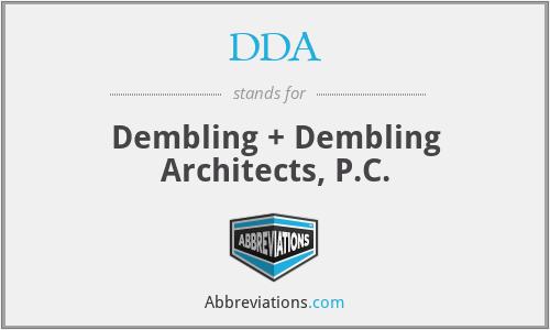 DDA - Dembling + Dembling Architects, P.C.