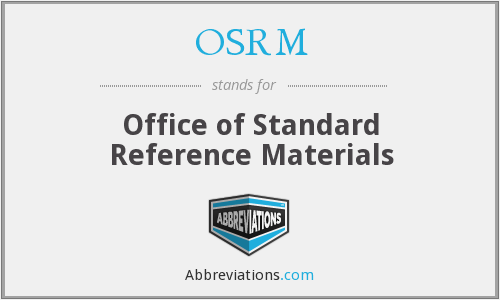 What does OSRM stand for?