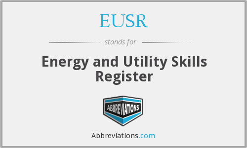 EUSR - Energy and Utility Skills Register