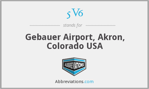 5V6 - Gebauer Airport, Akron, Colorado USA