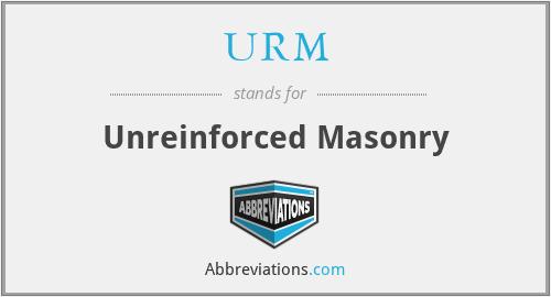 URM - Unreinforced Masonry
