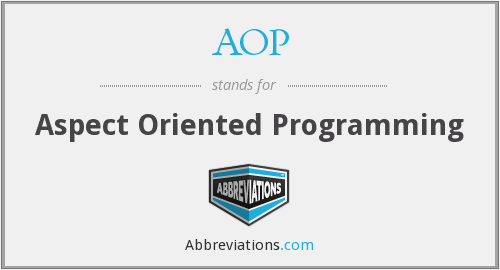 What does AOP stand for?