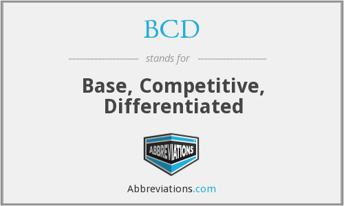 BCD - Base, Competitive, Differentiated