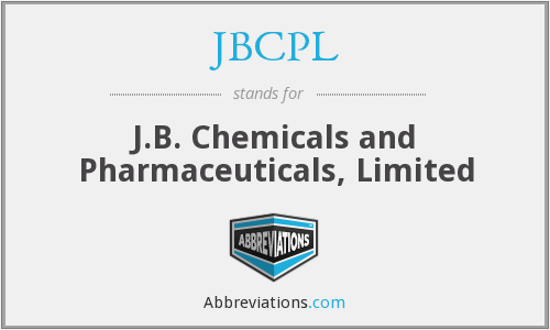 JBCPL - J.B. Chemicals and Pharmaceuticals, Limited