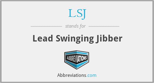 LSJ - Lead Swinging Jibber