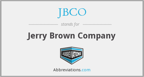 JBCO - Jerry Brown Company