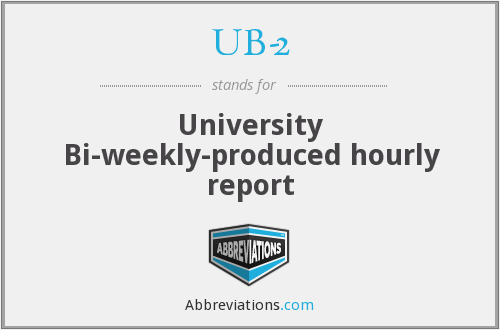 What does UB-2 stand for?