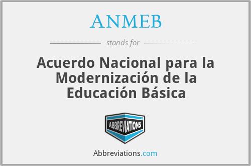 ANMEB - Acuerdo Nacional para la Modernización de la Educación Básica