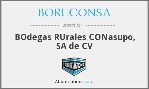 What does BORUCONSA stand for?