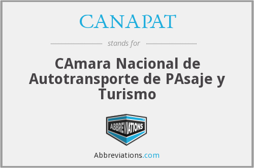 CANAPAT - CAmara Nacional de Autotransporte de PAsaje y Turismo