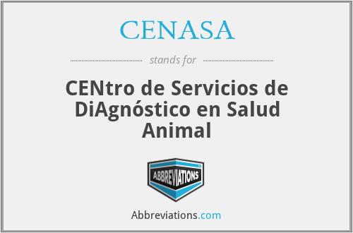 CENASA - CENtro de Servicios de DiAgnóstico en Salud Animal