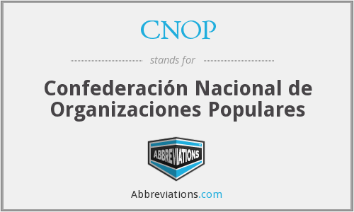 What does CNOP stand for?