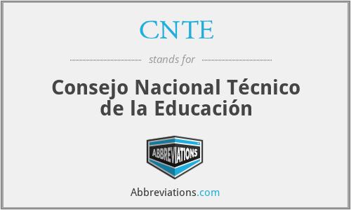 CNTE - Consejo Nacional Técnico de la Educación