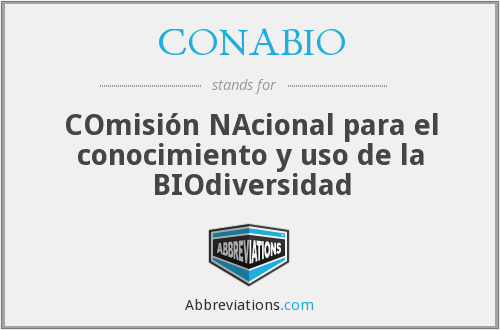 What does CONABIO stand for?