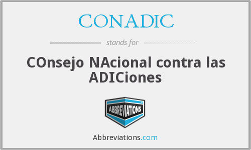 CONADIC - COnsejo NAcional contra las ADICiones
