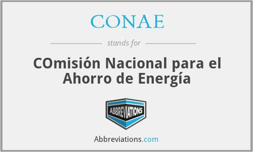 CONAE - COmisión Nacional para el Ahorro de Energía