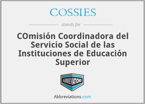 COSSIES - COmisión Coordinadora del Servicio Social de las Instituciones de Educación Superior