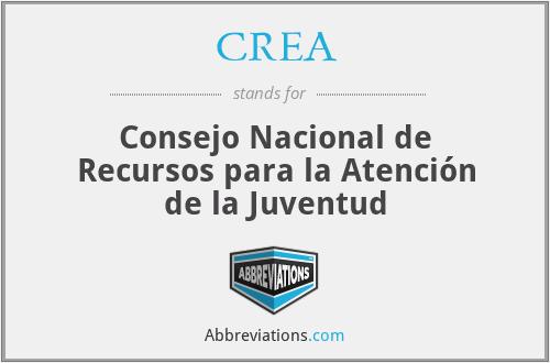 CREA - Consejo Nacional de Recursos para la Atención de la Juventud