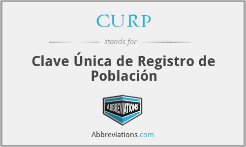 CURP - Clave Única de Registro de Población