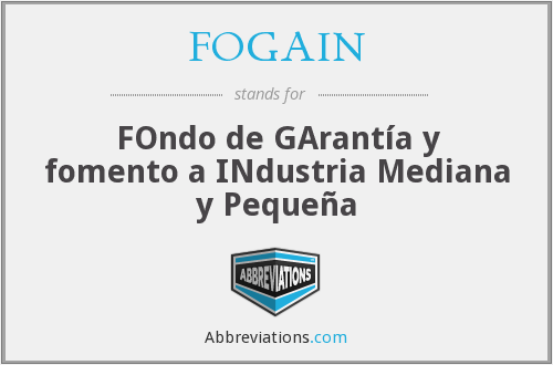 What does FOGAIN stand for?