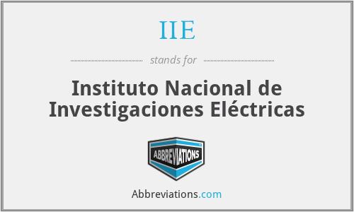IIE - Instituto Nacional de Investigaciones Eléctricas