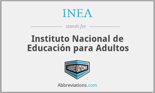 INEA - Instituto Nacional de Educación para Adultos
