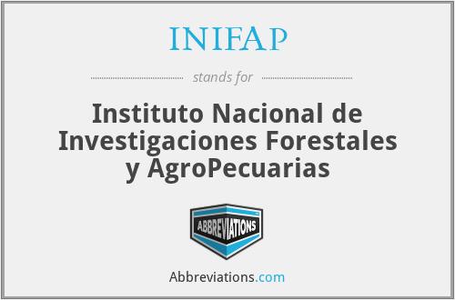 INIFAP - Instituto Nacional de Investigaciones Forestales y AgroPecuarias
