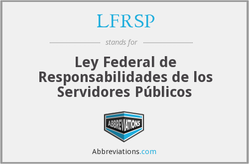 What does LFRSP stand for?