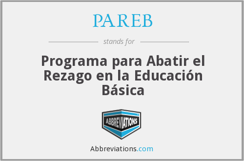 What does PAREB stand for?