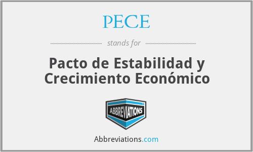 PECE - Pacto de Estabilidad y Crecimiento Económico