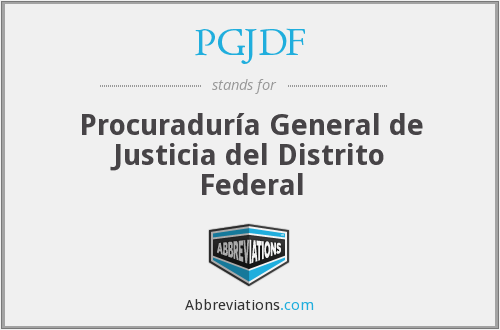 What does PGJDF stand for?