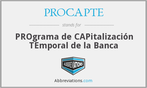 What does PROCAPTE stand for?