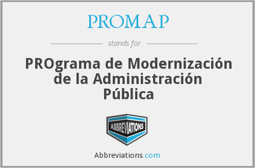 What does PROMAP stand for?