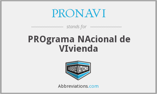 What does PRONAVI stand for?