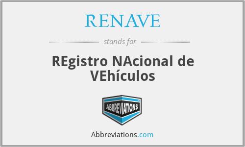 RENAVE - REgistro NAcional de VEhículos