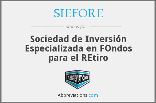 What does SIEFORE stand for?