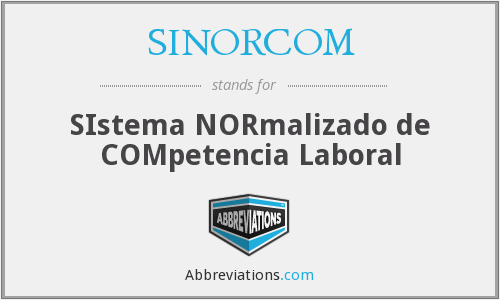 What does SINORCOM stand for?