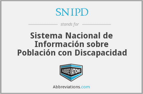 What does SNIPD stand for?