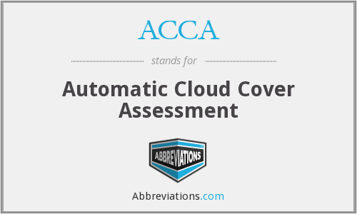 ACCA - Automatic Cloud Cover Assessment