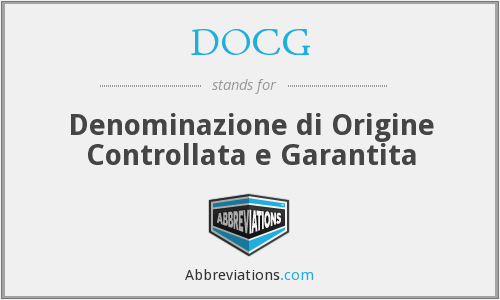 What does DOCG stand for?