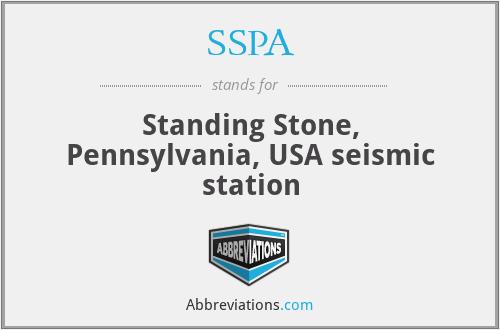 SSPA - Standing Stone, Pennsylvania, USA seismic station