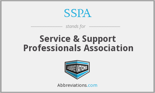 SSPA - Service & Support Professionals Association