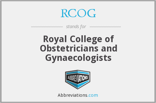 What does RCOG stand for?