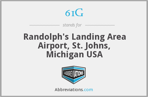 61G - Randolph's Landing Area Airport, St. Johns, Michigan USA